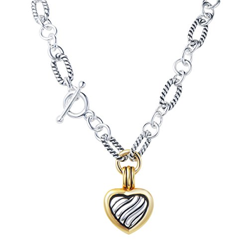 UNY Fashion Trendy Pendants Antique Pendant Heart cable wire Desinger Inspired Women Charms Necklace Gift