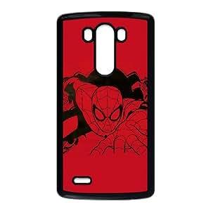 LG G3 Cell Phone Case Black_Outline of Spider Man Vlzws