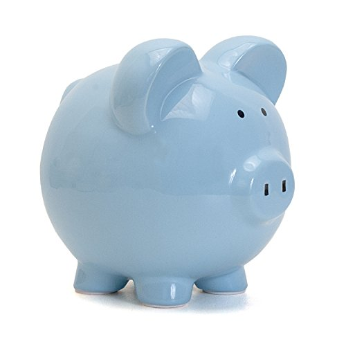 Child to Cherish Ceramic Piggy Bank for Boys, Blue - Large Piggy Banks Kids