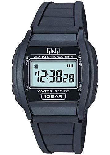 Reloj Q & Q Hombre Digital Negro Goma | Reloj LCD | qml01p101y. Q&Q