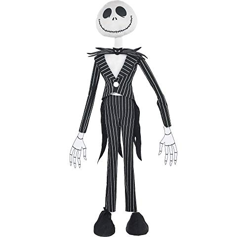 The Nightmare Before Christmas Giant Standing Jack Skellington Halloween Decoration and Prop, 36, by Party City