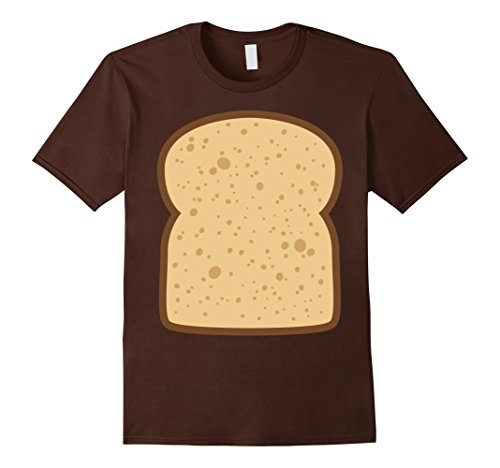 Mens Sliced Bread Toast Matching Shirts DIY Halloween Costume Large (Halloween Bread Costume)