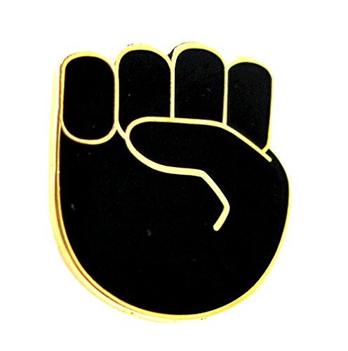 Adult Get Real Apple Costumes (Emoji Raised Fist Enamel Pin by Real Sic - Black Lives Matter Lapel Pin)