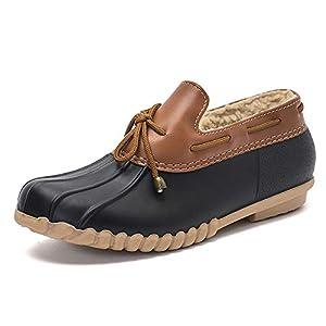 DKSUKO Women's Waterpoof Loafer Shoes Slip On Flat Duck Shoes
