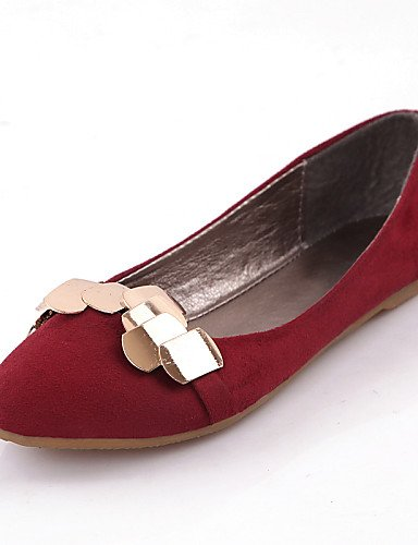 punta Flats negro piel cn38 azul 5 plano 5 de rojo sintética PDX de redonda eu38 Casual zapatos mujer us7 red uk5 talón 1O8cv1qC7