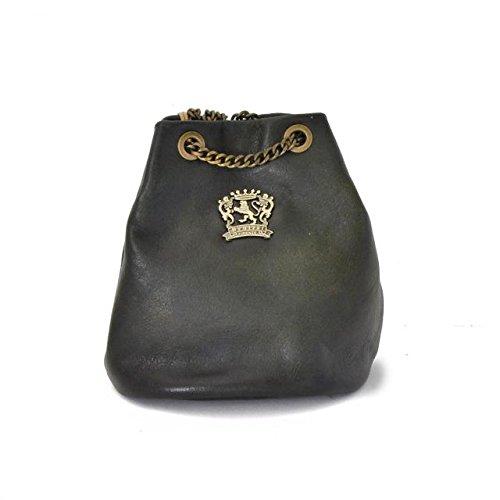 Pratesi Womens Italian Leather Pienza Bag in Cow Leather in Dark Green