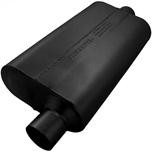 Flowmaster 942551 50 Delta Flow Muffler - 2.50 Offset IN / 2.50 Center OUT - Moderate Sound ()