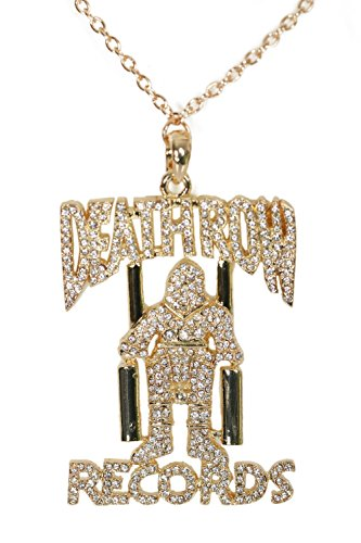 Deathrow Records Necklace Golden Chain Pendant Cosplay Costume Accessory Fashion -