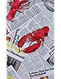 Lobsterfest Clambake Vinyl Flannel Back Tablecloth (52'' x 52'' Square)