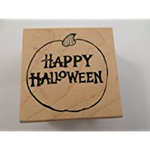 Happy Halloween Northwoods Rubber Stamps 2006 Wooden Rubber Stamp