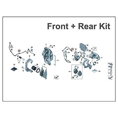 BMW 5 series(2011+) F10.Front & Rear Brake Pad Wear Sensor Set.Part #34356791958(F)34356791962(R) OEM: Automotive