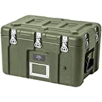 Monoprice Rotomodeled Weatherproof Case - Green (19 x 13 x 12 inches) with Customizable Foam - Pure Outdoor Collection