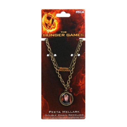 The Hunger Games Girl on Fire Peeta Mellark Double Chain Necklace by -