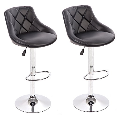 BestMassage PU Leather Bar Stools Modern Swivel Dinning Kitchen Chair,Set Of 2 by BestMassage