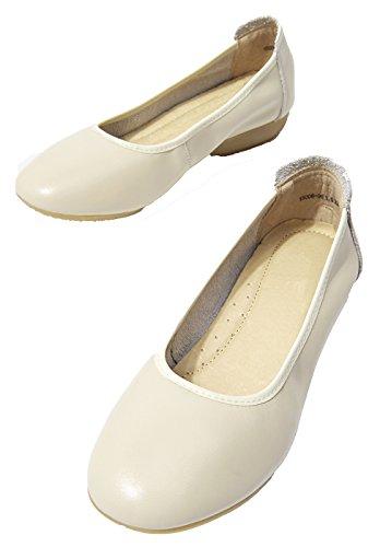 Women's Ons Shoes Low lite heel Penny Low Loafers top Leather Slip U Wearable Biege T5HAw4qnZZ