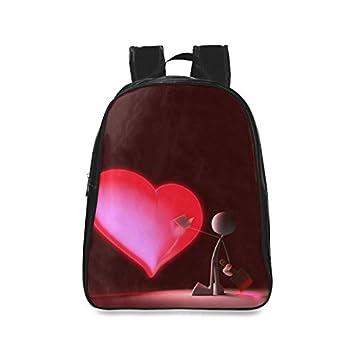Custom forma de corazón Casual mochila Colegio mochila escolar viaje Mochila: Amazon.es: Electrónica