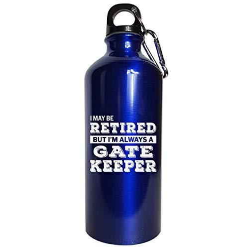 bce2db4ec8a9e Retired Gate Keeper Funny Retirement Gift - Water Bottle Metallic Blue