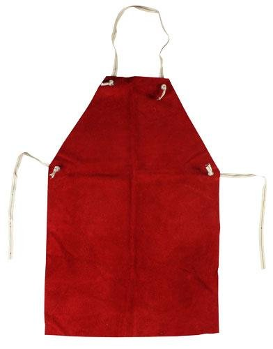 Red Leather Welders Blacksmith Safety Apron SWP