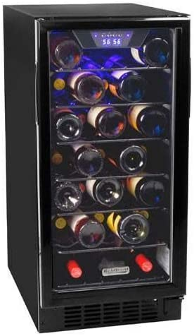 6. Koldfront 30 Bottle Built-In Single Zone Wine Cooler - Black