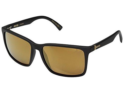 VonZipper Adults Lesmore Polarized Sunglasses, Black Satin/Wild Gold Lens One - Polar Sunglasses