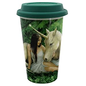 Anne Stokes Pure Heart Travel Mug 13.5cm