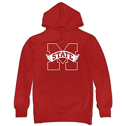 YAK Men's Mississippi State Bulldogs Logo Hoodie Sweatshirt Red L