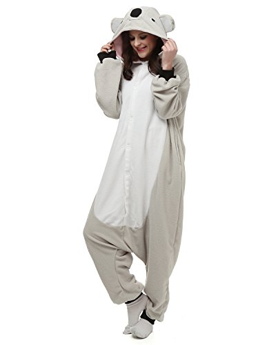 [Adult Oneise Women Men's Animal Koala Pajama Halloween Costume Partywear Medium] (Animal Costumes Coupon Code)