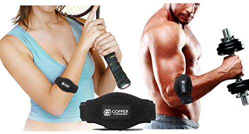 Copper Tennis Elbow Brace Forearm Strap. GUARANTEED Highest