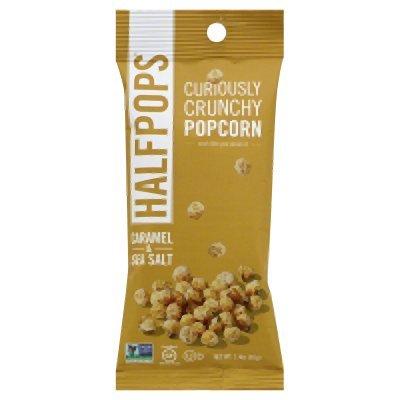Halfpops Caramel and Sea Salt Crunchy Popcorn, 1.4 Ounce (Pack of 15)