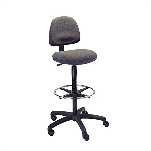 Safco Products 3401DG Precision Extended Height Chair with Footring (Additional options sold separately), Dark Gray