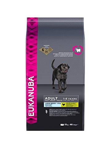 Eukanuba Adult Large Breed Trockenfutter (für erwachsene Hunde grosser Rassen, Premiumfutter mit Huhn), 15 kg Beutel