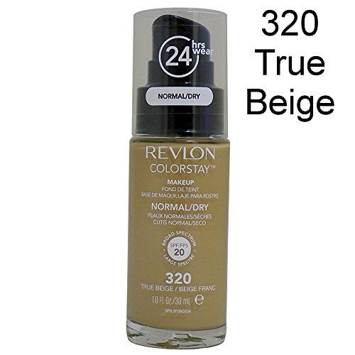 Revlon Colorstay SPF 20 Makeup Foundation for Normal/Dry Skin, True Beige, 1 (Revlon Spf 20 Foundation)