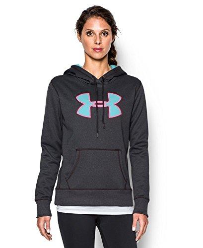 Under Armour Women's Storm Armour Fleece Big Logo Hoodie Carbon Heather Size XL