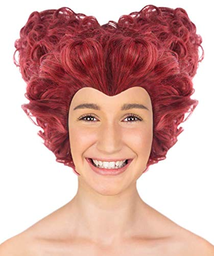 Queen of Hearts Wig, Red Adult HW-1912A -