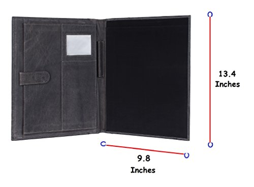 Handmade Leather Business Portfolio by Rustic Town | Professional Organizer Men  Women | Durable Leather Padfolio 3 + 1 Sleeves for documents and not…