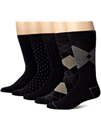 Mens Classics Dress Argyle Crew Socks, (Pack of 5)