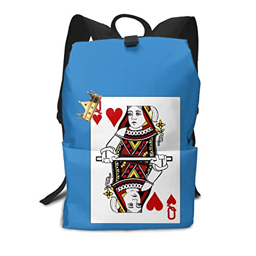 (Travel Backpack Business Daypack School Bag Poker Queen Large Compartment College Computer Bag Casual Rucksack For Women Men Hiking Camping Outdoor)