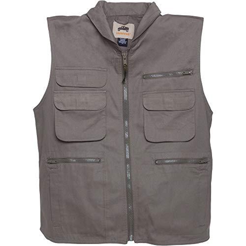 HUMVEE HMV-VR-K-XXL XX-Large Cotton Ranger Vest with Hideaway Hood, Khaki