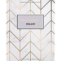 Wochenplaner 2018-2019: Oktober 2018 bis Dezember 2019, modernes Marble Cover Design mit rose-gold Pattern, Wochen- und Monatsplaner, 1 Woche auf 2 Seiten, 20x25 cm (Bürobedarf 2018-2019, Band 2)