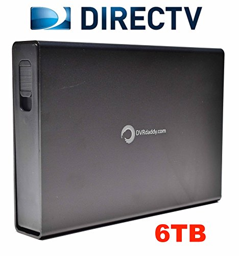 6TB DVRdaddy External DVR Hard Drive Expander For DirecTV HR34, HR44 and HR54 Genie DVR. +6,000 Hours Recording Capacity and!