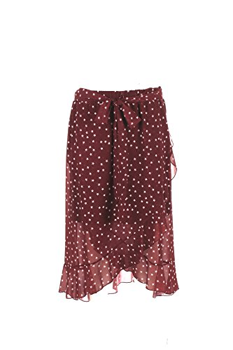 5RUE Gonna Donna M Bordeaux D6817a17 Autunno Inverno 2017/18