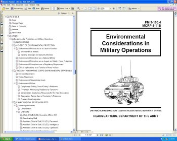 USMC Marines Manual - Environmental Considerations in Military Ops