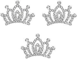 """Mini CLEAR Crystal Tiara Crown w//Metal Comb for American Girl /& 15/""""-18/"""" Dolls"""