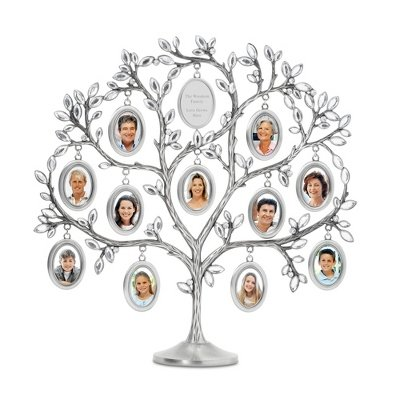 Things Remembered Personalized Jeweled Family Tree 11 Picture Frame with Engraving Included