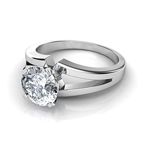 1.45 CT EGL Certified, Natural Round Diamond with 950 PLATINUM, classic 4-prong solitair Engagment Ring, promise Birdal wedding ring - Round Ct Diamond 1.45