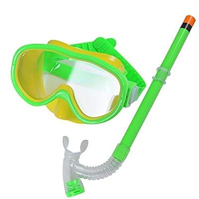 New Cute Kid Child Swimming Scuba Anti Fog Goggles Mask Snorkel Snorkeling Set