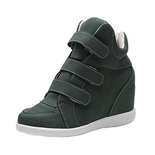 Clearance Womens Girls Wedges Shoes 5.5-8,Casual No Lace-up Platform Sneaker Boots for Party (Green, US:6.5) by Aurorax-Shoes