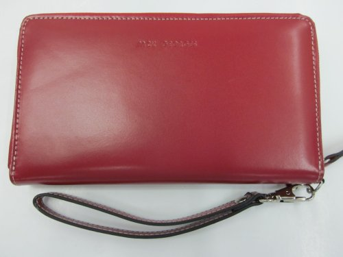 jack-georges-zip-around-wristlet-clutch-red-one-size