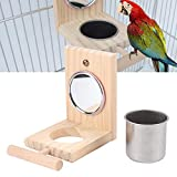 kathson Bird Feeder Parrot Perches Toys Mirror