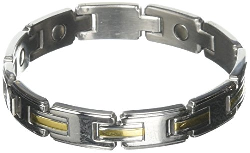 0f446920cde9 Sabona Men s Stainless Gold Magnetic Link Bracelet